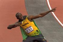 Visa celebrates Usain Bolt's win