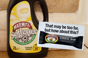 Marmite introduces spoof products in print and poster campaign