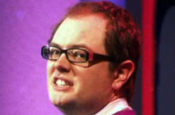 Comedy award winner Alan Carr in Freeview ad