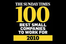 Agencies named 'best to work for' by Sunday Times