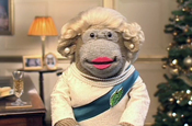 PG Tips monkey gets sozzled in spoof Christmas speech