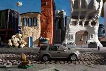 Land Rover plays with clay in new TV ad