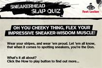 Foot Locker gets cheeky with Facebook game