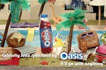 Oasis to sponsor ITV2's Celebrity Juice