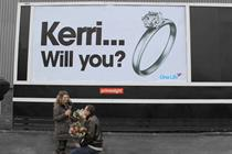 Charity worker uses Primesight billboard to propose