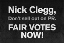 Political ads live on beyond election as pressure group targets Clegg