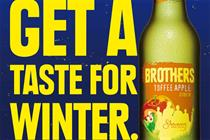 Brothers Cider promotes Toffee Apple variant