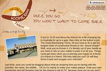Tourism Australia launches Facebook 'boomerang' app