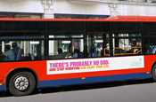 Atheists unveil £130,000 bus poster campaign