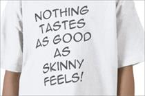 Kate Moss-inspired 'skinny' slogan gets kids' t-shirt ad banned