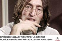 John Lennon to star in new Citroën DS3 TV spot