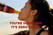 Coke puts another £4.5m adspend behind Zero Sugar in next stage of campaign