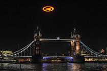 Halo symbol flown over London for game launch