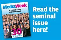 MediaWeek's 30th anniversary edition