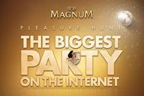 Magnum holds 'the biggest party on the internet' with snake-style game