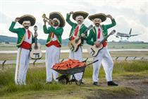 Trump serenaded in Scotland by Paddy Power's Mexican mariachi band