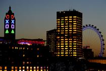 PlayStation 4 dresses Oxo Tower in giant symbols