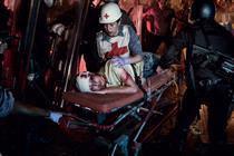Red Cross recreates war scenes for healthcare campaign