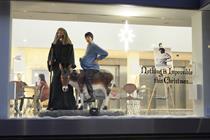 Saatchi & Saatchi joins in the festivities with Christmas window display