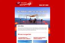 Virgin Holidays send wolf-whistling email for Valentine's Day campaign