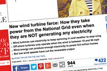 Decc hits out at Daily Mail over misleading wind article