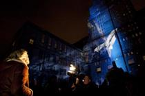 Video: Virgin Money launches with projection mapping show