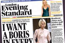 London Evening Standard e-auction misses target with advertisers