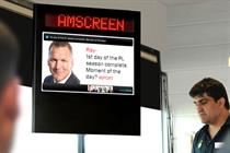 Amscreen to offer sports and entertainment content