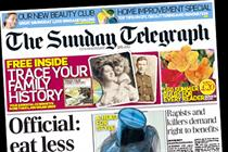 Saturday and Sunday Telegraph lift cover prices by 10p