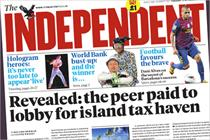 Independent to raise cover price to £1.20