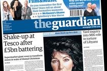 NEWSPAPER ABCs: Guardian is only daily riser in December