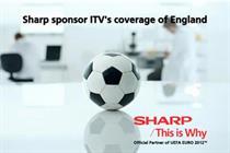 Sharp sponsors England football on ITV