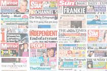 National newspaper ABC figures for February 2012