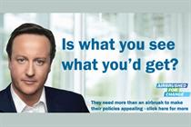 Labour Party adopts blogger's airbrushed Cameron campaign