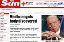 Sun website hacked with fake story of Murdoch's death