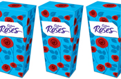 FutureBrand redesigns Cadbury's Roses packaging