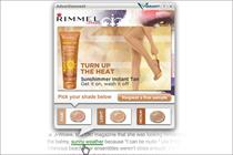 Rimmel to roll out interactive in-text ads