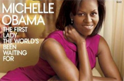 Michelle makes cover of Vogue as Barack hawks iPhones