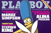 Marge Simpson Playboy centrefold hits the newsstand