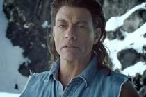 Van Damme 'freezes hard' for latest Coors push