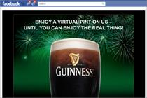 Guinness launches 'friendly' Facebook app