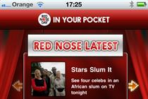 Comic Relief app closes in on 100,000 downloads