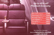 Virgin premium economy ad banned for misleading claims
