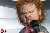Animated Mick Hucknall pushes Virgin Media on-demand service