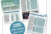 The Planning Law Survey 2017: Two decades of excellence