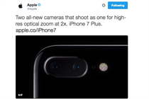Apple's Twitter account jumps the gun on iPhone 7 announcement