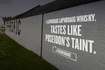 Laphroaig whiskey projects Tweets as part of 200th anniversary campaign