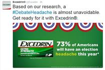 Why Excedrin embraced the headache of a contentious election season