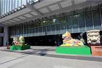 In Hong Kong, HSBC's iconic lions turn a shade of rainbow