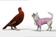 Famous Grouse 'diamante dog' by AMV BBDO